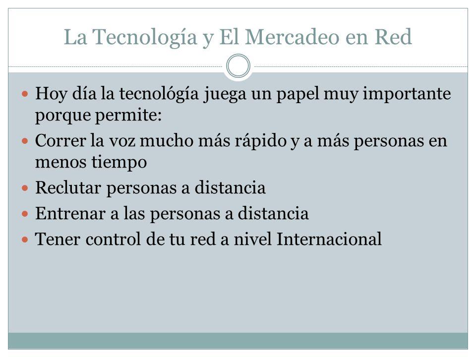 La Tecnología y El Mercadeo en Red