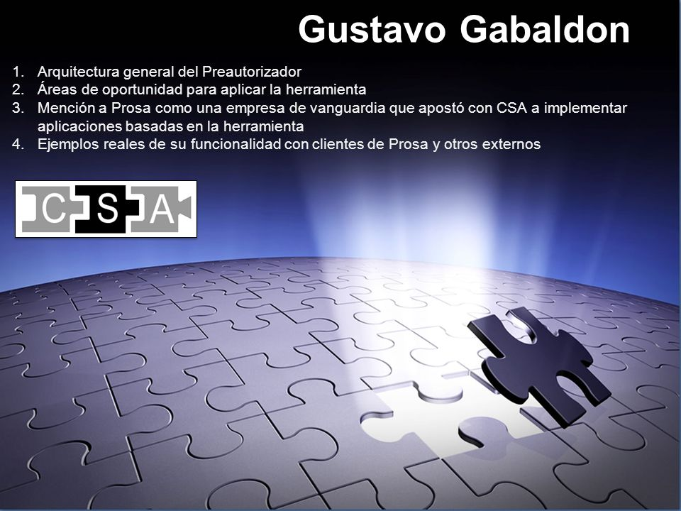 Gustavo Gabaldon Arquitectura general del Preautorizador