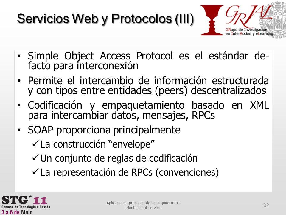 Aplicaciones prácticas de las arquitecturas orientadas al servicio
