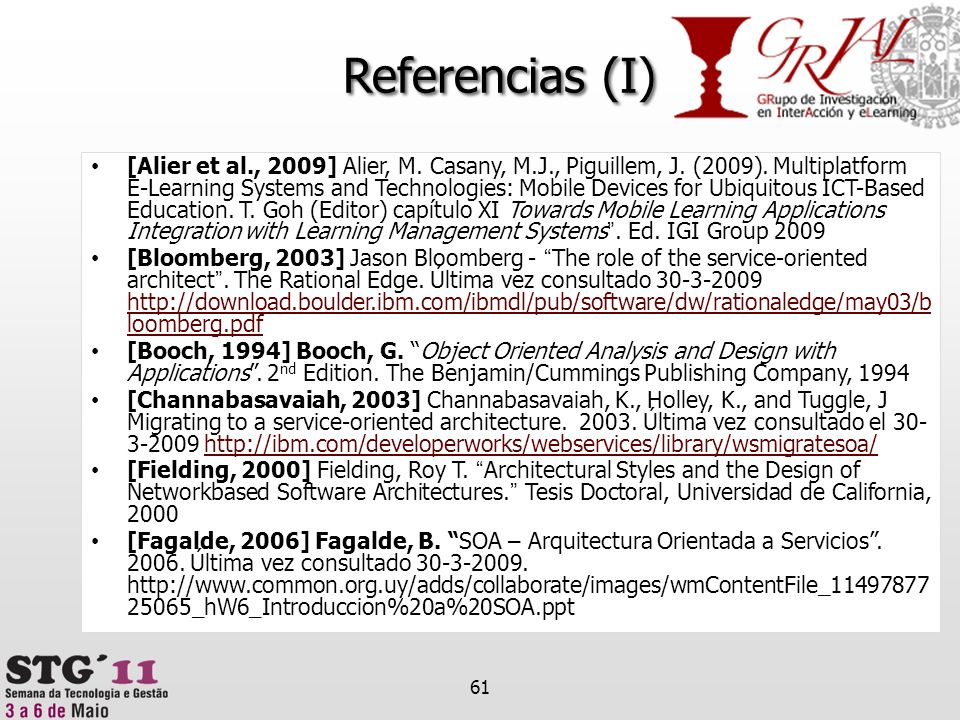 Referencias (I)