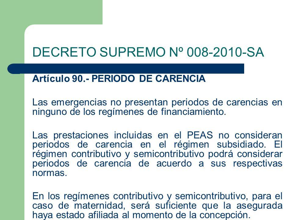 DECRETO SUPREMO Nº 008-2010-SA