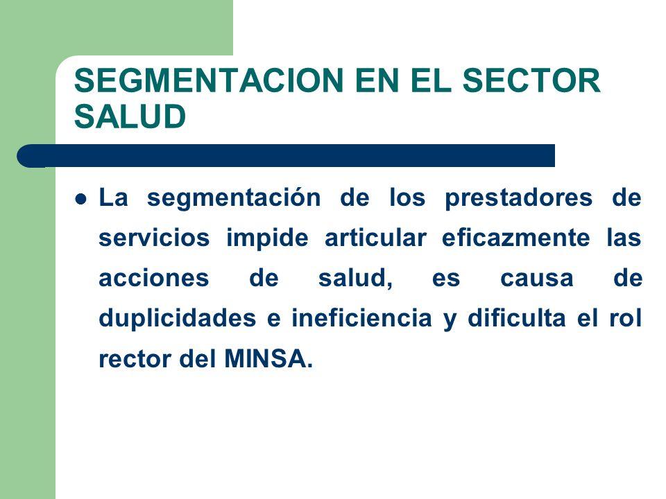 SEGMENTACION EN EL SECTOR SALUD