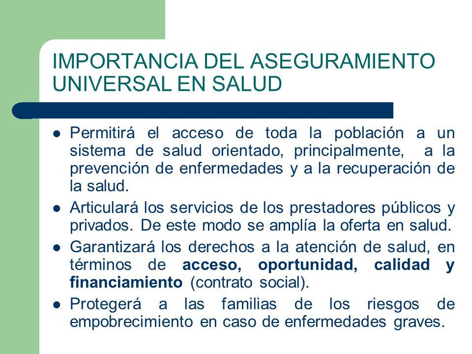 IMPORTANCIA DEL ASEGURAMIENTO UNIVERSAL EN SALUD