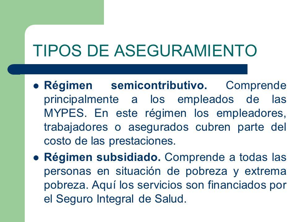 TIPOS DE ASEGURAMIENTO