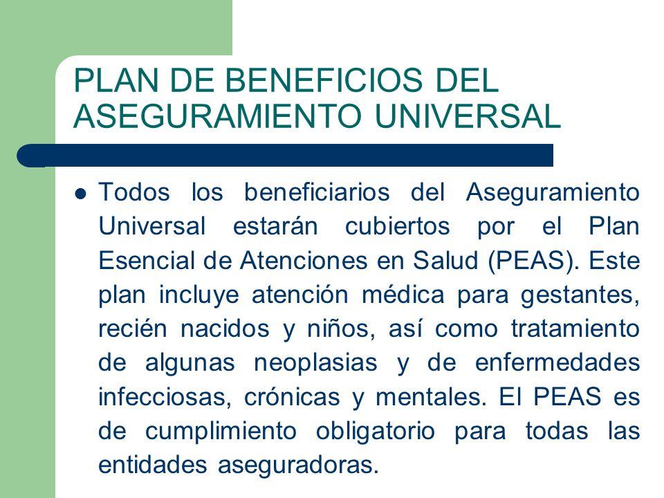 PLAN DE BENEFICIOS DEL ASEGURAMIENTO UNIVERSAL
