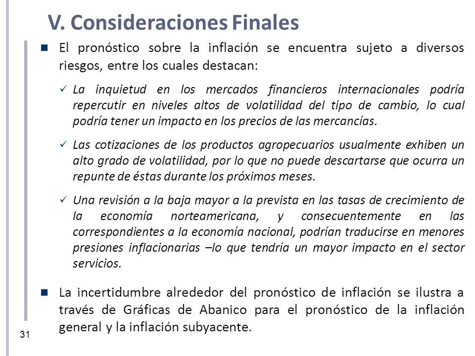 V. Consideraciones Finales