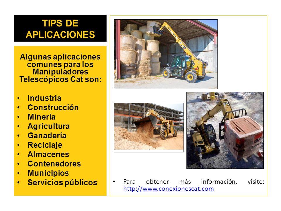 TIPS DE APLICACIONES Para obtener más información, visite: http://www.conexionescat.com.