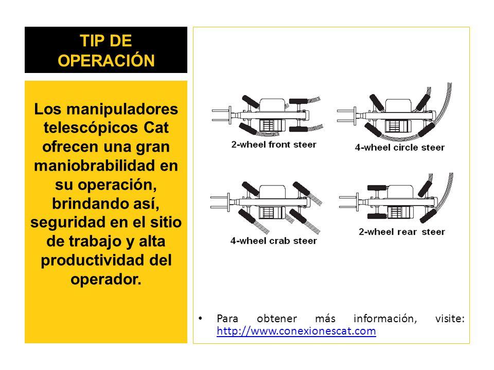 TIP DE OPERACIÓN Para obtener más información, visite: http://www.conexionescat.com.