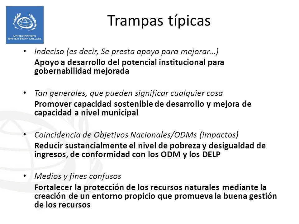 Trampas típicas Indeciso (es decir, Se presta apoyo para mejorar...)