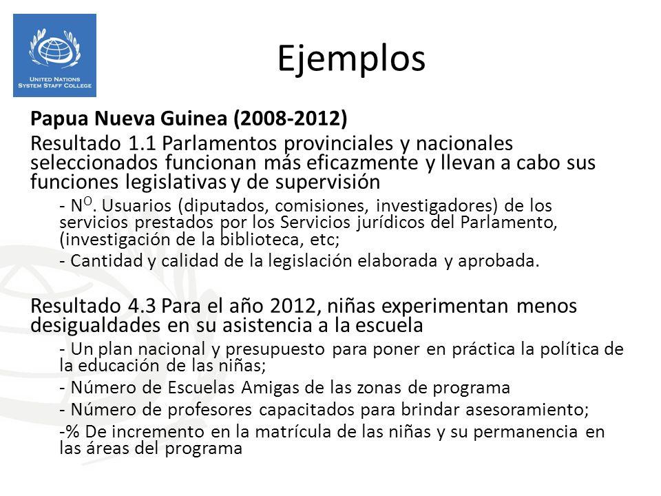 Ejemplos Papua Nueva Guinea (2008-2012)