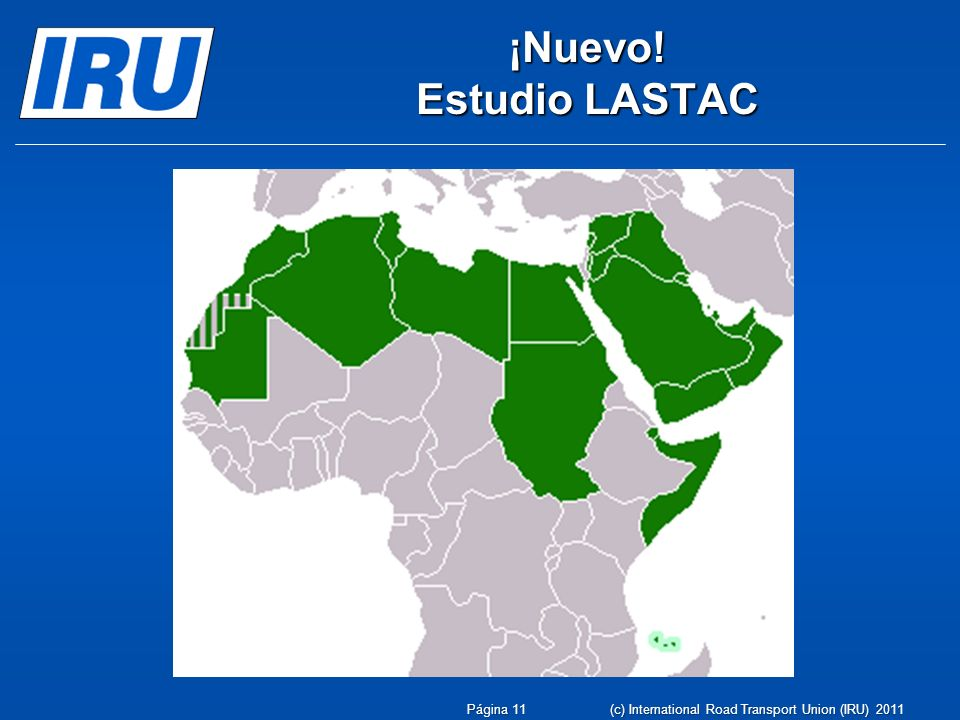 ¡Nuevo! Estudio LASTAC (c) International Road Transport Union (IRU) 2011