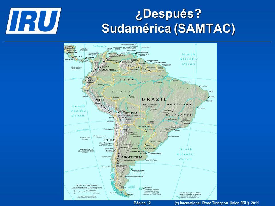 ¿Después Sudamérica (SAMTAC)