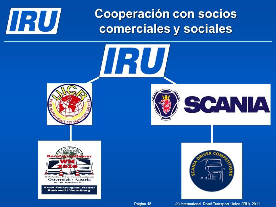 Cooperación con socios comerciales y sociales