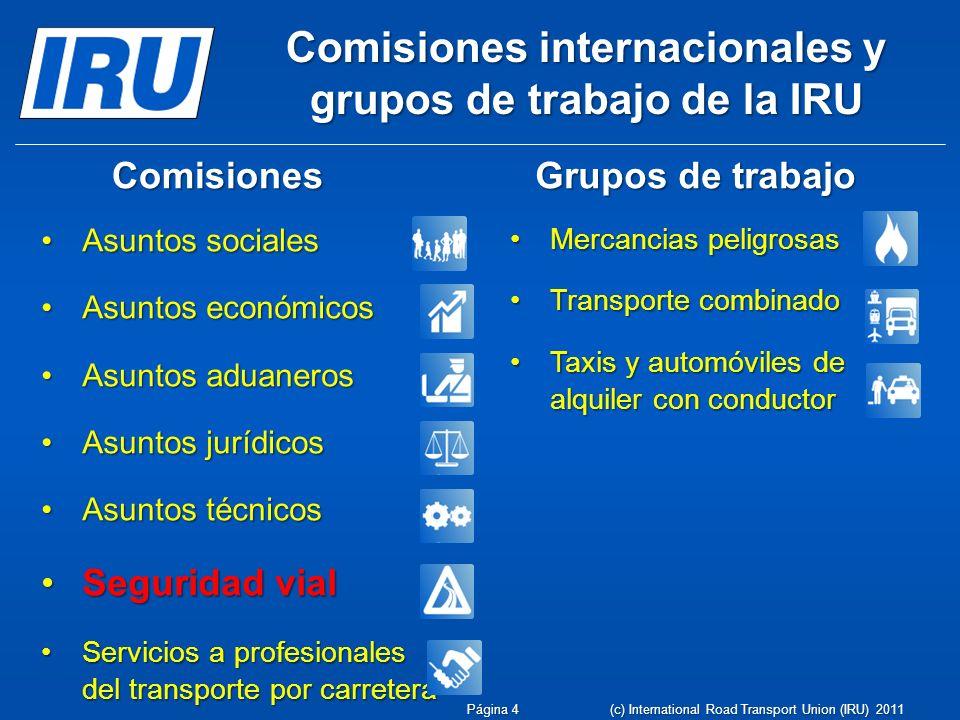 Comisiones internacionales y grupos de trabajo de la IRU