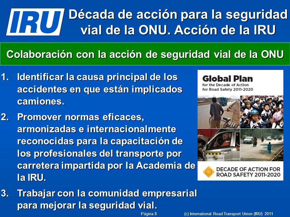 Década de acción para la seguridad vial de la ONU. Acción de la IRU