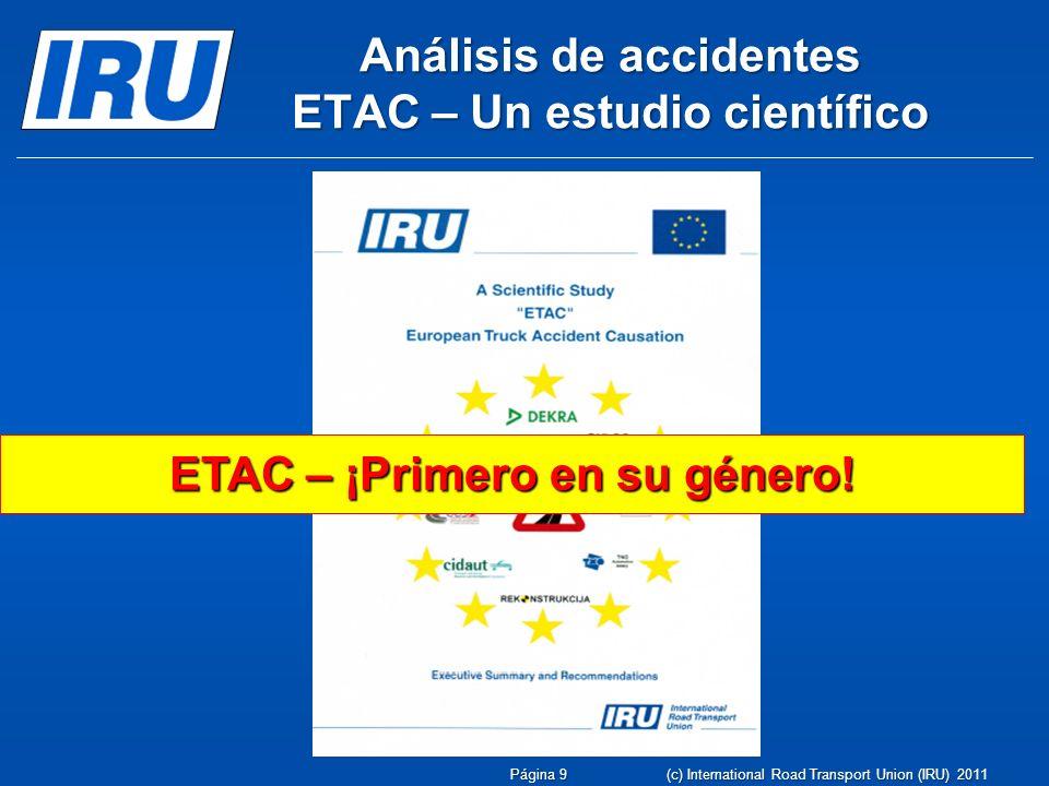Análisis de accidentes ETAC – Un estudio científico