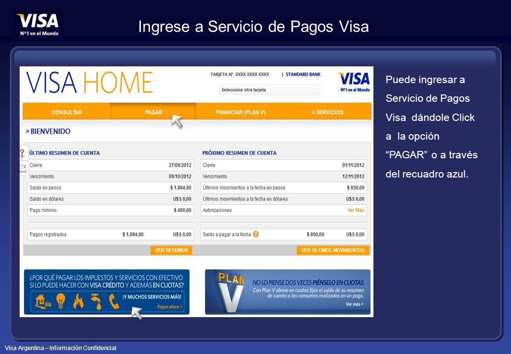 Ingrese a Servicio de Pagos Visa
