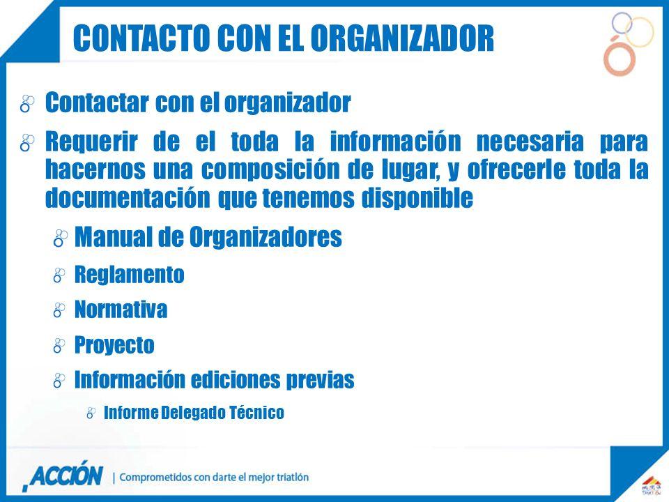 Contacto con el organizador