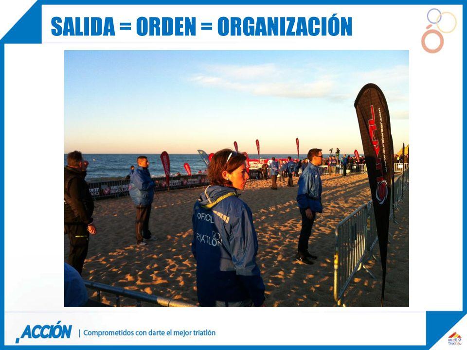 Salida = orden = organización