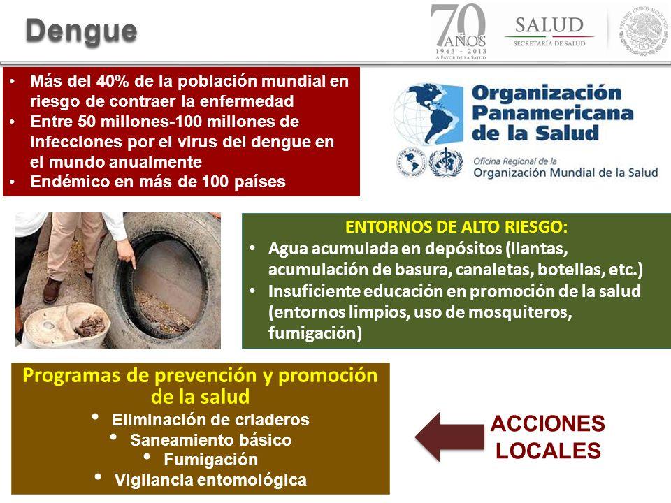 Dengue Programas de prevención y promoción de la salud