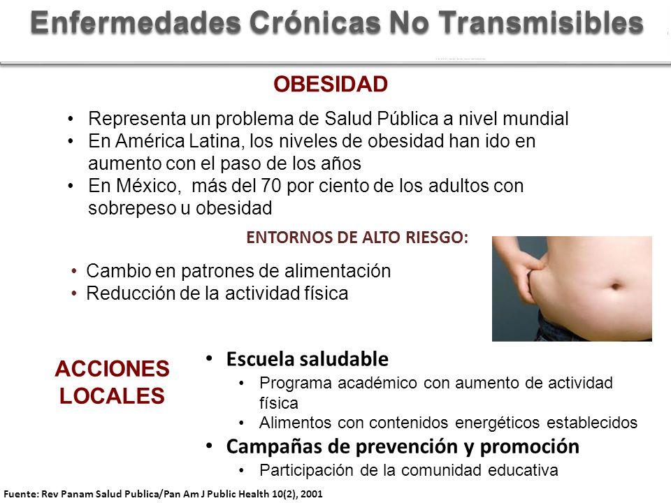Enfermedades Crónicas No Transmisibles ENTORNOS DE ALTO RIESGO: