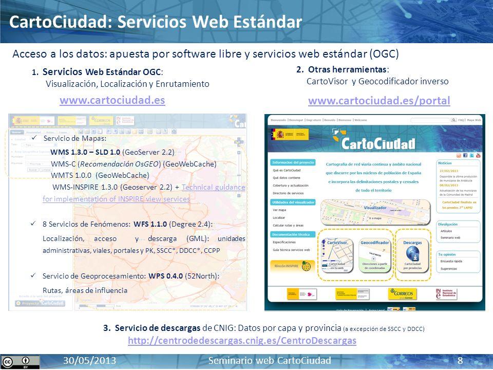 CartoCiudad: Servicios Web Estándar