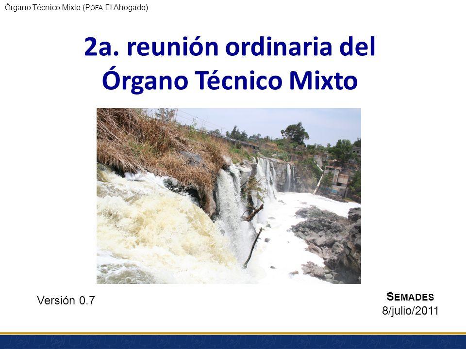 2a. reunión ordinaria del Órgano Técnico Mixto