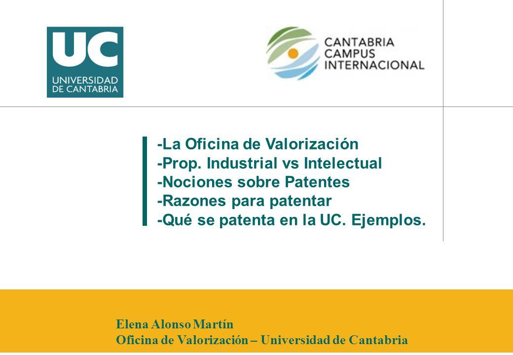 -La Oficina de Valorización -Prop. Industrial vs Intelectual