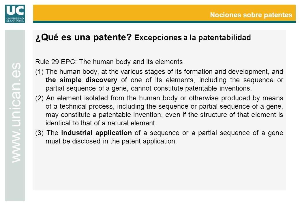 Nociones sobre patentes