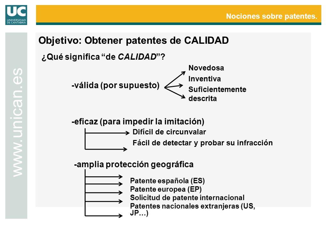 Nociones sobre patentes.