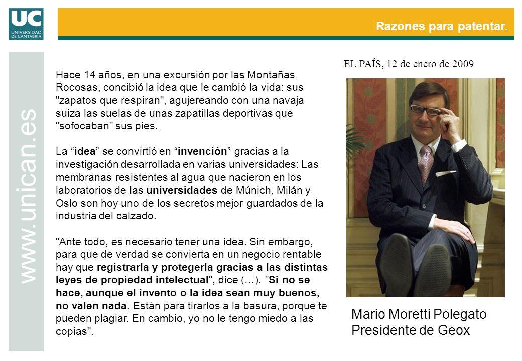 www.unican.es Mario Moretti Polegato Presidente de Geox