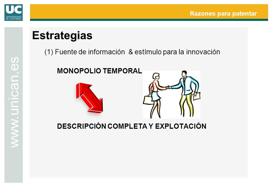 www.unican.es Estrategias MONOPOLIO TEMPORAL
