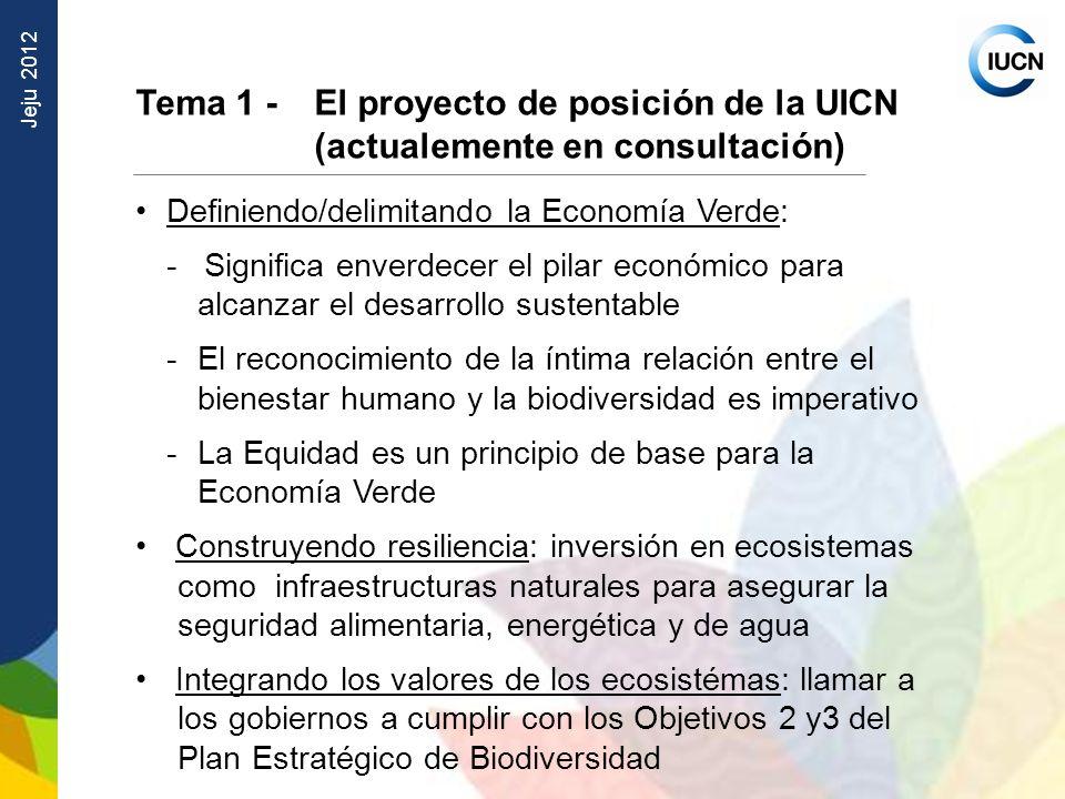 Tema 1 - El proyecto de posición de la UICN