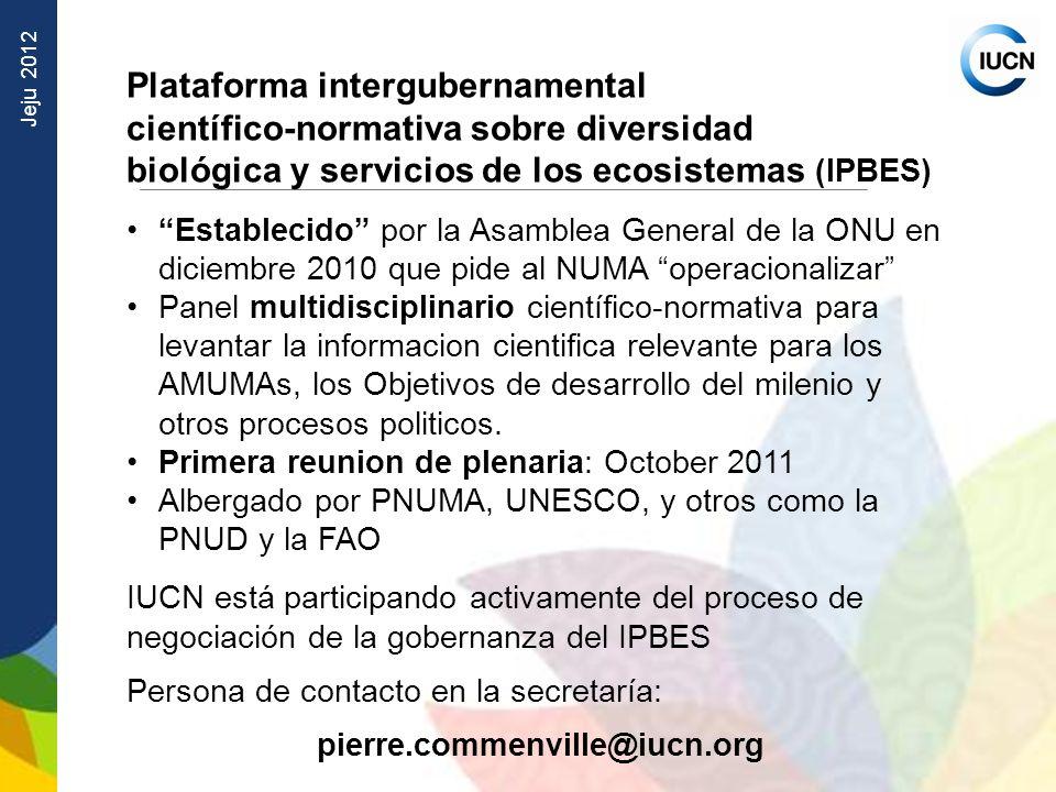 Plataforma intergubernamental científico‑normativa sobre diversidad
