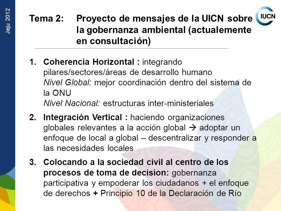 Tema 2:. Proyecto de mensajes de la UICN sobre