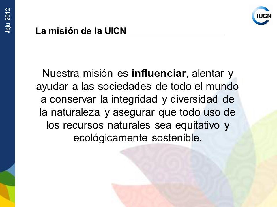 La misión de la UICN
