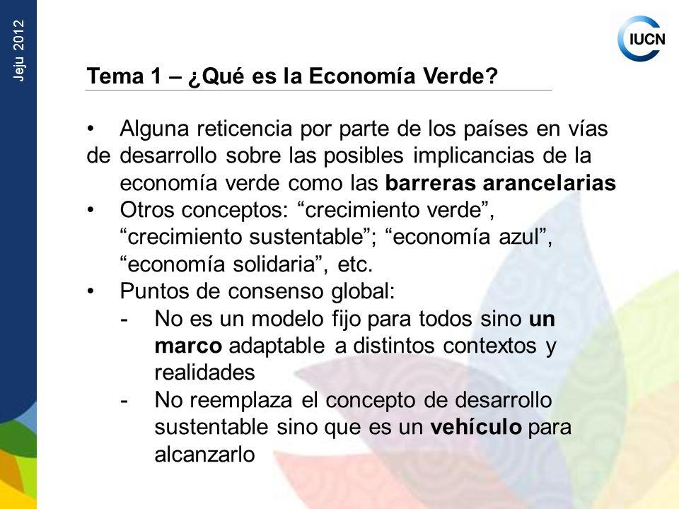 Tema 1 – ¿Qué es la Economía Verde