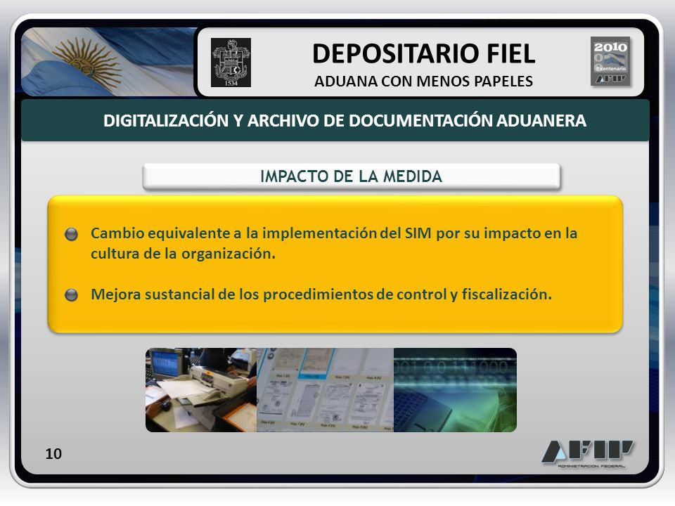 DEPOSITARIO FIEL DIGITALIZACIÓN Y ARCHIVO DE DOCUMENTACIÓN ADUANERA