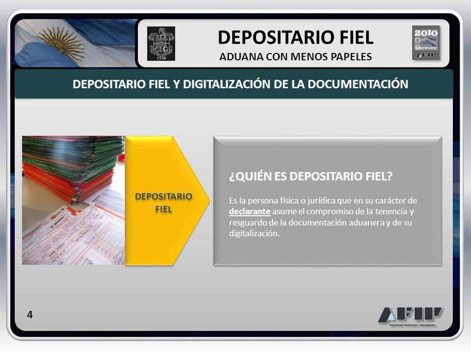 DEPOSITARIO FIEL DEPOSITARIO FIEL Y DIGITALIZACIÓN DE LA DOCUMENTACIÓN