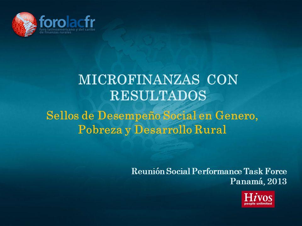 Microfinanzas con resultados