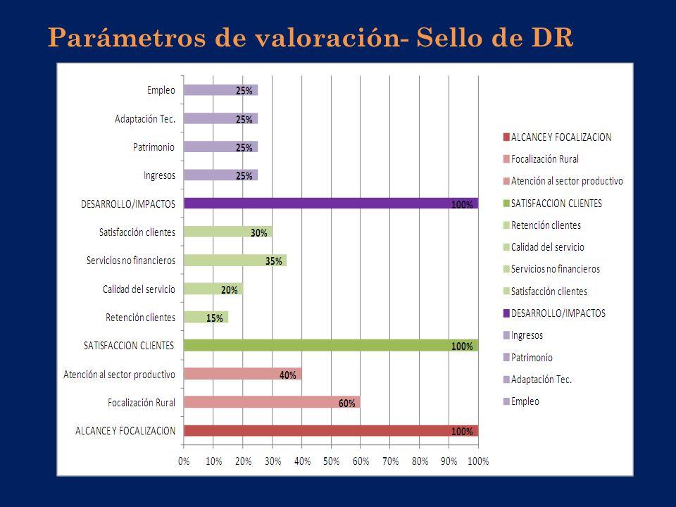 Parámetros de valoración- Sello de DR