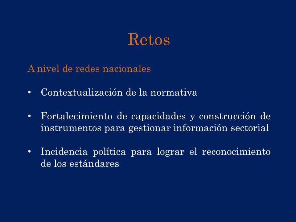 Retos A nivel de redes nacionales Contextualización de la normativa