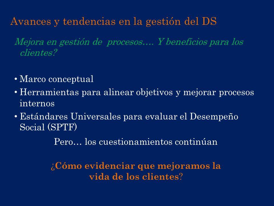 Avances y tendencias en la gestión del DS
