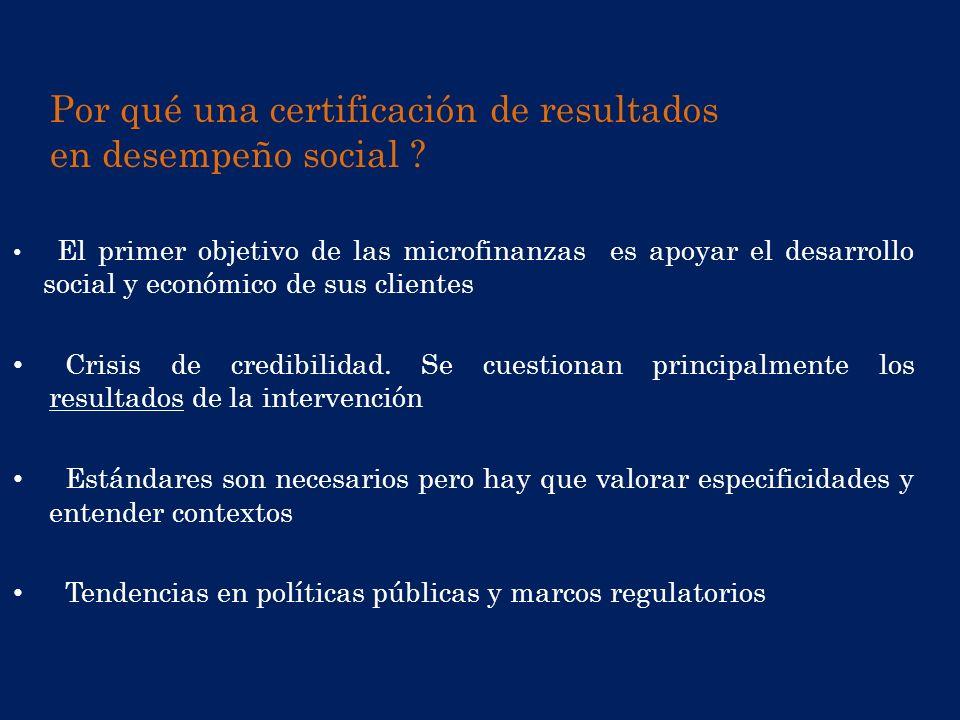 Por qué una certificación de resultados en desempeño social