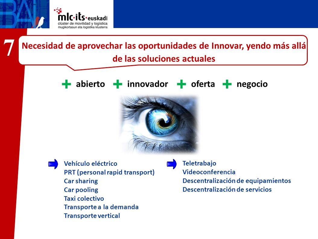 7 Necesidad de aprovechar las oportunidades de Innovar, yendo más allá de las soluciones actuales. abierto.