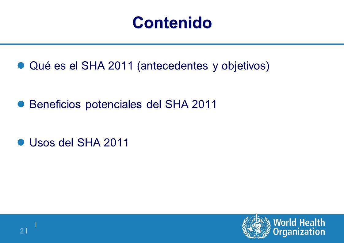 Contenido Qué es el SHA 2011 (antecedentes y objetivos)