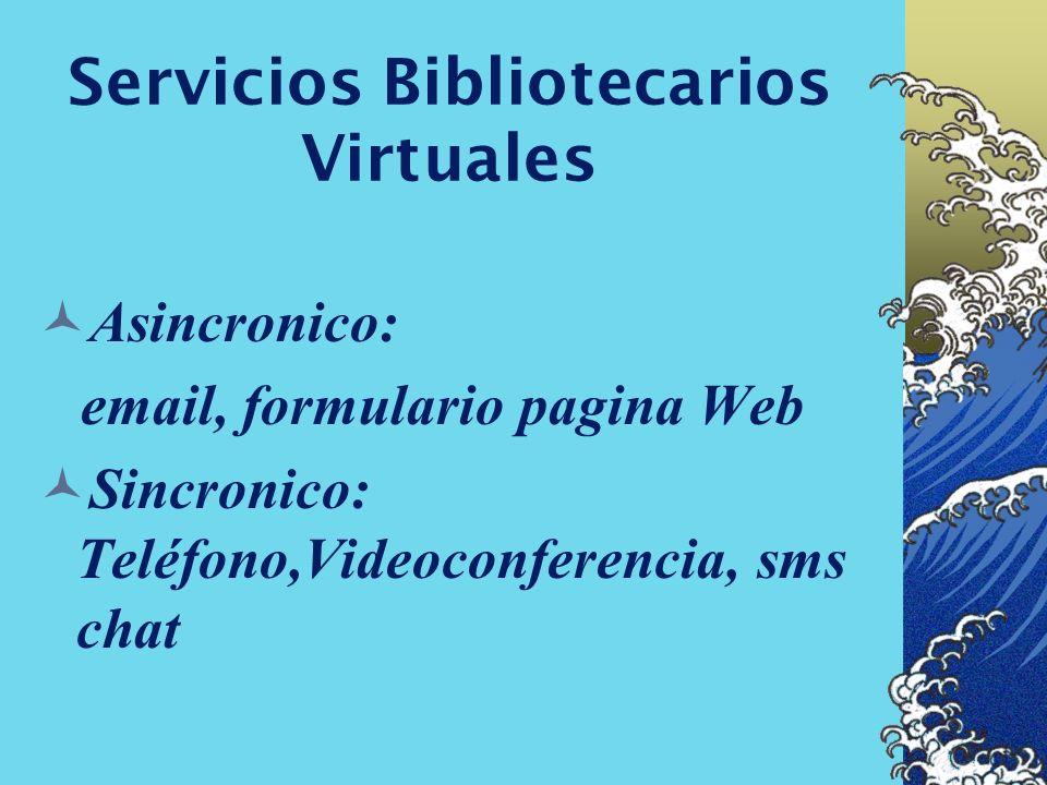 Servicios Bibliotecarios Virtuales