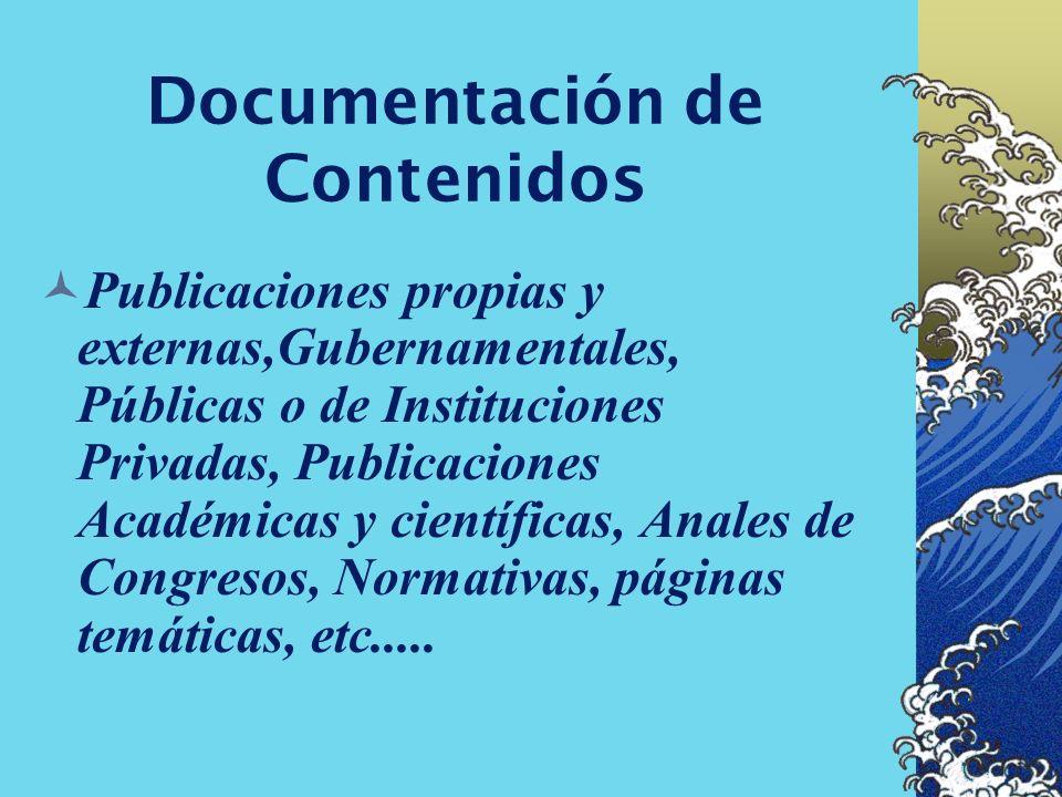 Documentación de Contenidos