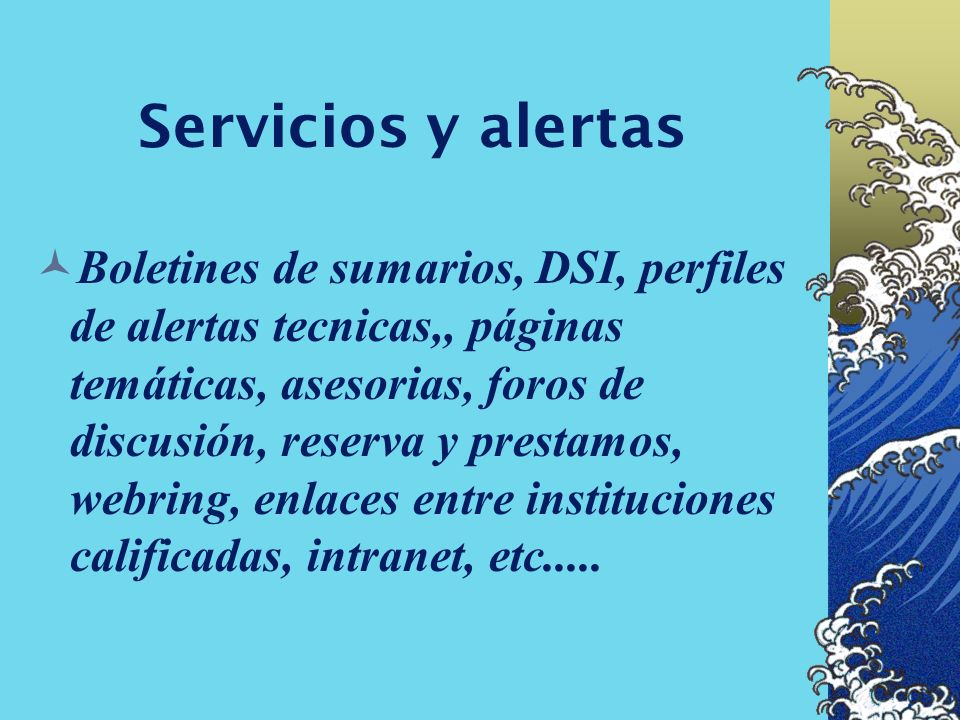 Servicios y alertas