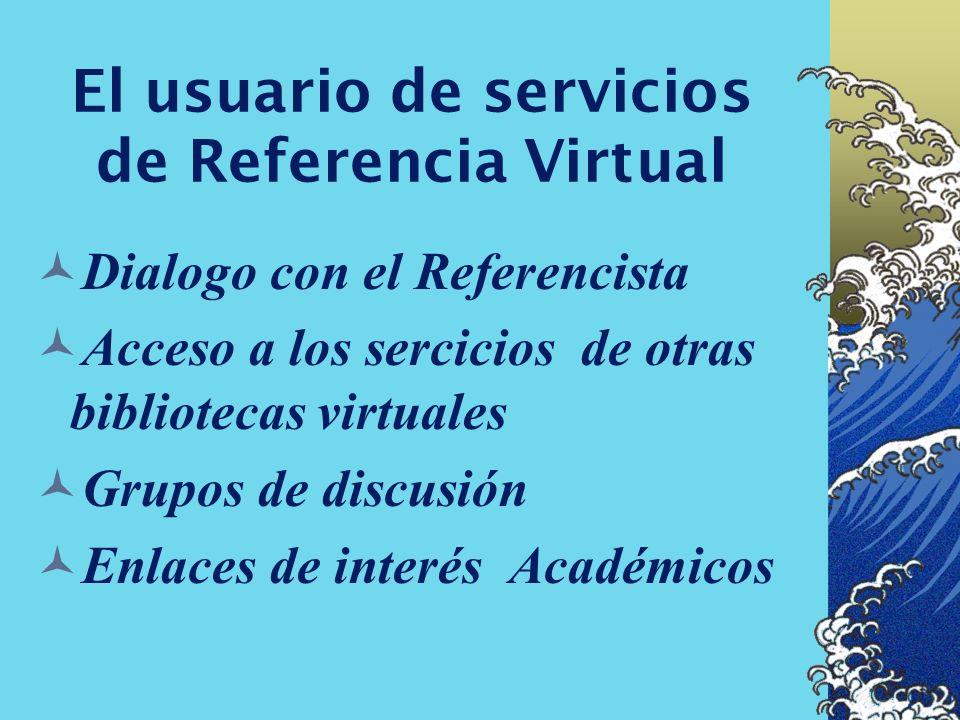 El usuario de servicios de Referencia Virtual